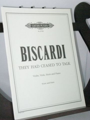 Biscardi C - They Had Ceased To Talk